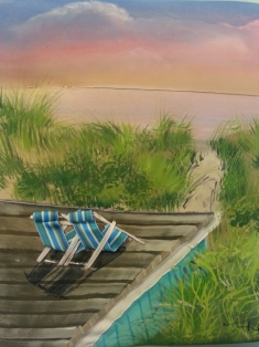 Beach Side by Ronni Harris at SunRose Gallery