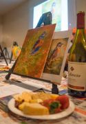 The set up for Vino Van Gogh