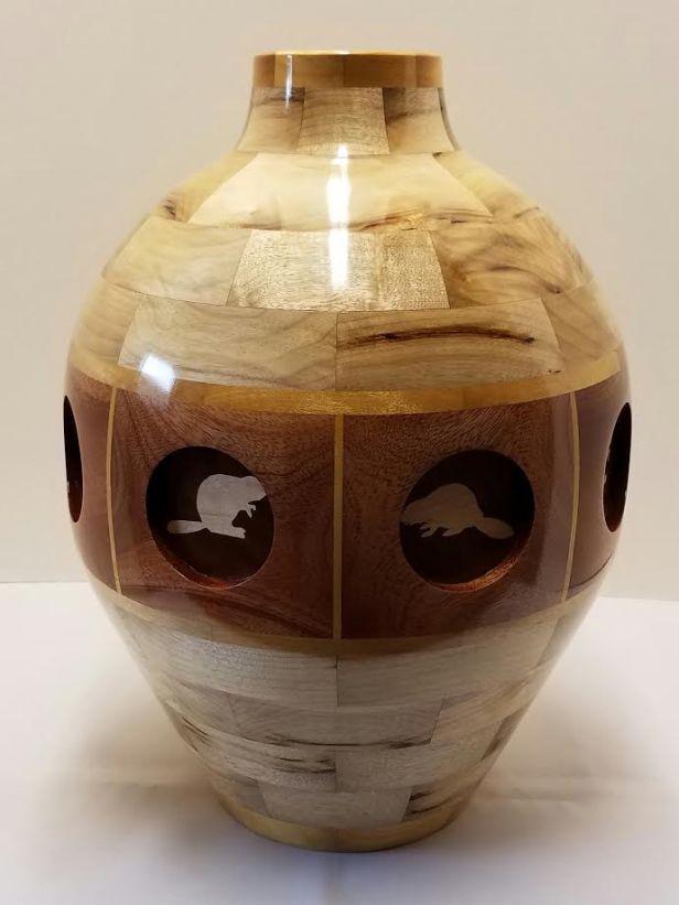Inlaid vase/ Mike Brown