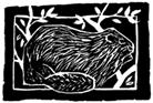 beaver woodcut
