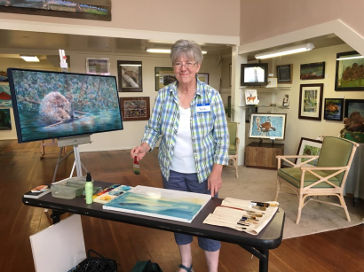Beaver Tales Pop-Up Gallery last call for painting LIVE in Seaside.
